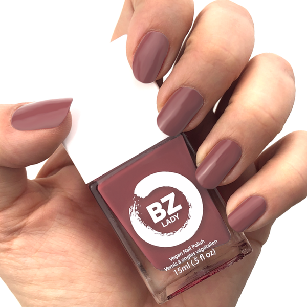 Vegan nail polish cinnamon reddish brown BZ Lady Babylon