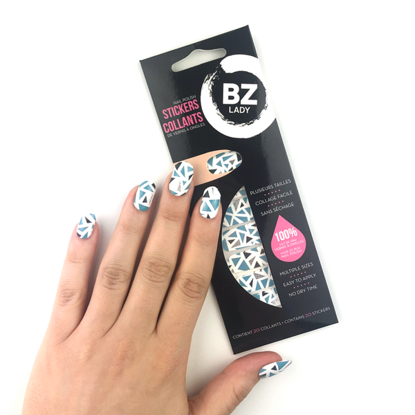 Vegan Nail Polish Stickers BZ Lady