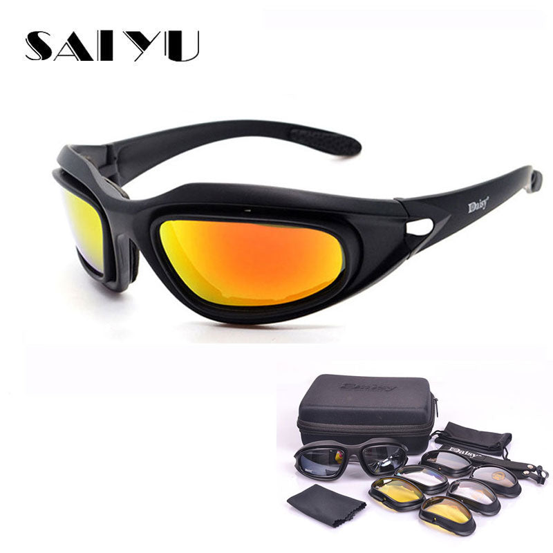 X7 Motorcycle Cycling Riding Outdoor Sport Goggles Polarized Glasses Sunglasses
