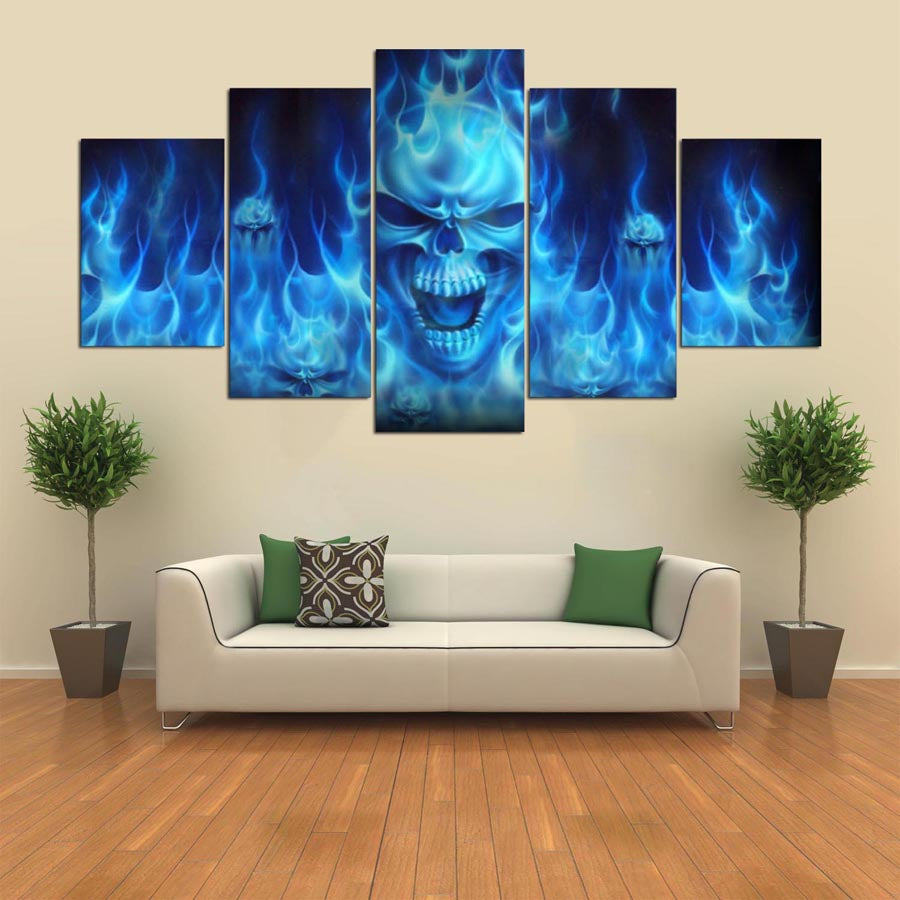 fire skull red rose home decor canvas crazyskullart rh crazyskullart com red rose homes padiham red rose homes barrow in furness