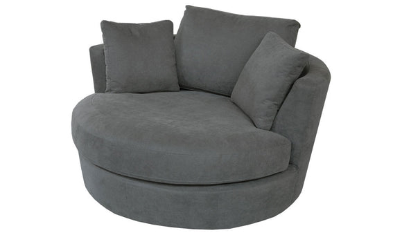 Tempo Swivel Chair - Charcoal