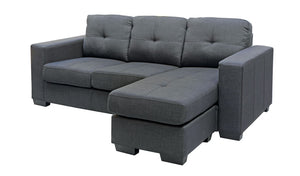 Jericho Chaise - Charcoal