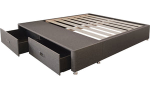 Drawer Super King Base - Dark Grey