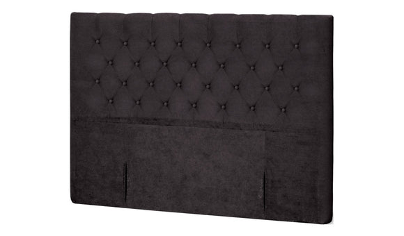 Buttoned Queen Headboard - Black