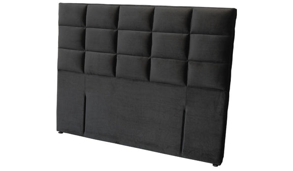 Padded Queen Headboard - Black