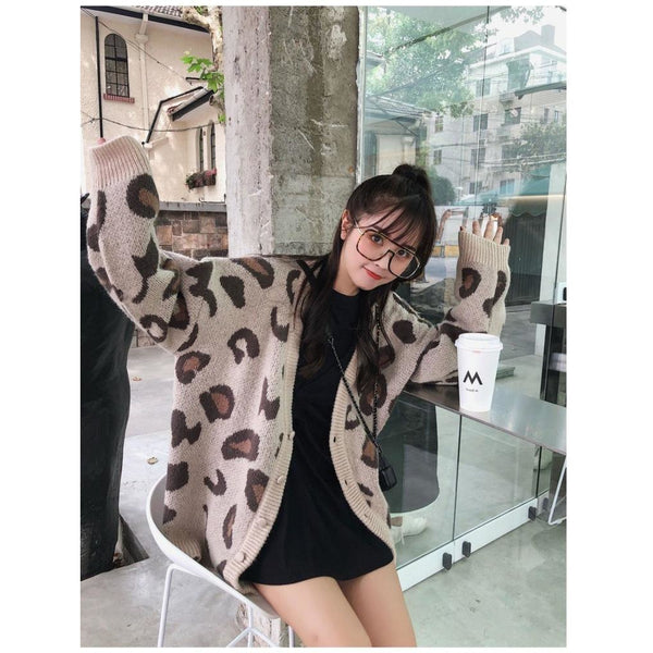 Soft Animal Print Cardigan