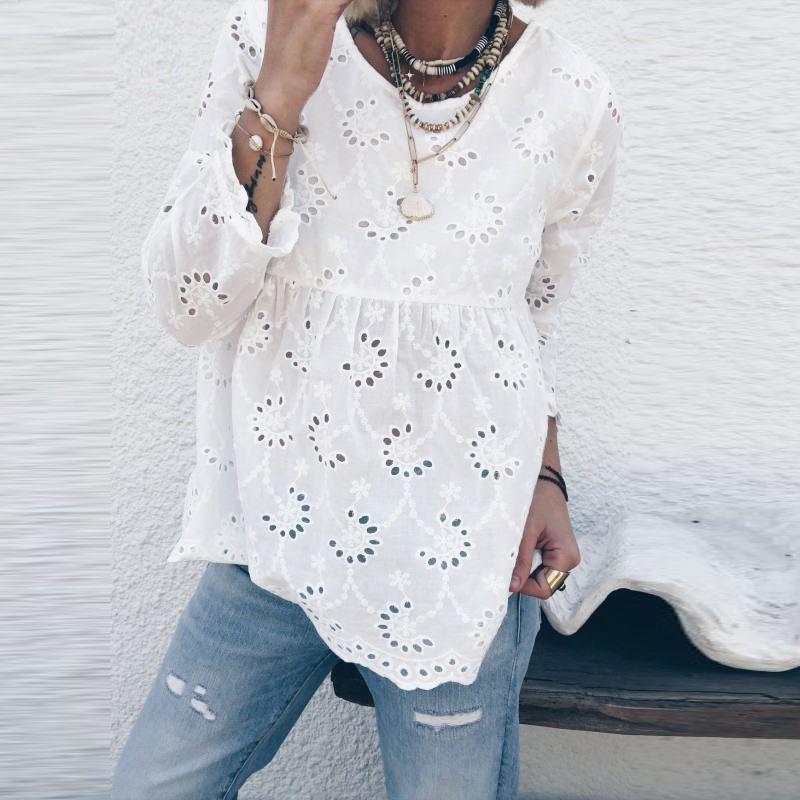Button Up Back Tunic Top