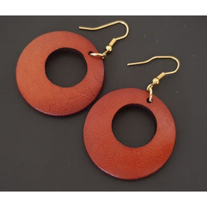 Tonya Wooden Drop Earrings