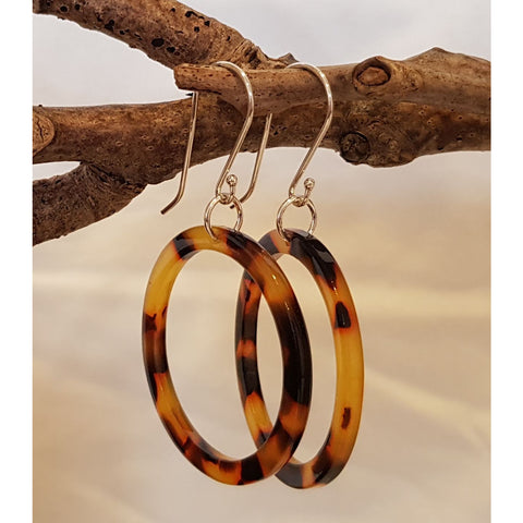 Infinity Tortoiseshell Earrings