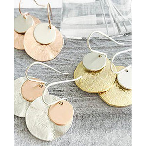 Flynn Disc Earrings