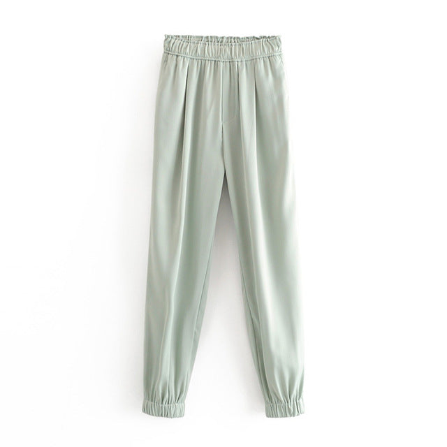 Satin Harem Pants