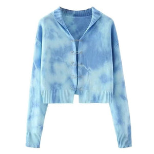 Safety Pin Tie-Dye Cardigan