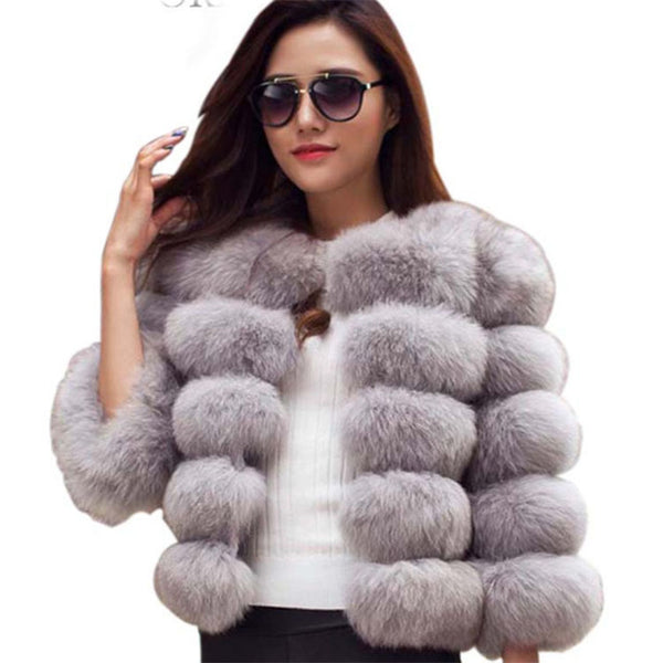 Faux Fur Mink Jacket