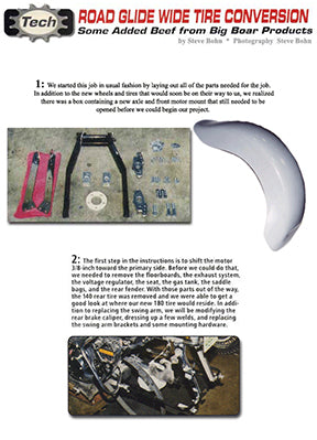 Install a Fat Tire Kit for a Dresser
