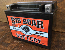 "Big Boar Battery, 312 Cranking Amps 6""L x 5 1/8""T x 3 5/16""W"