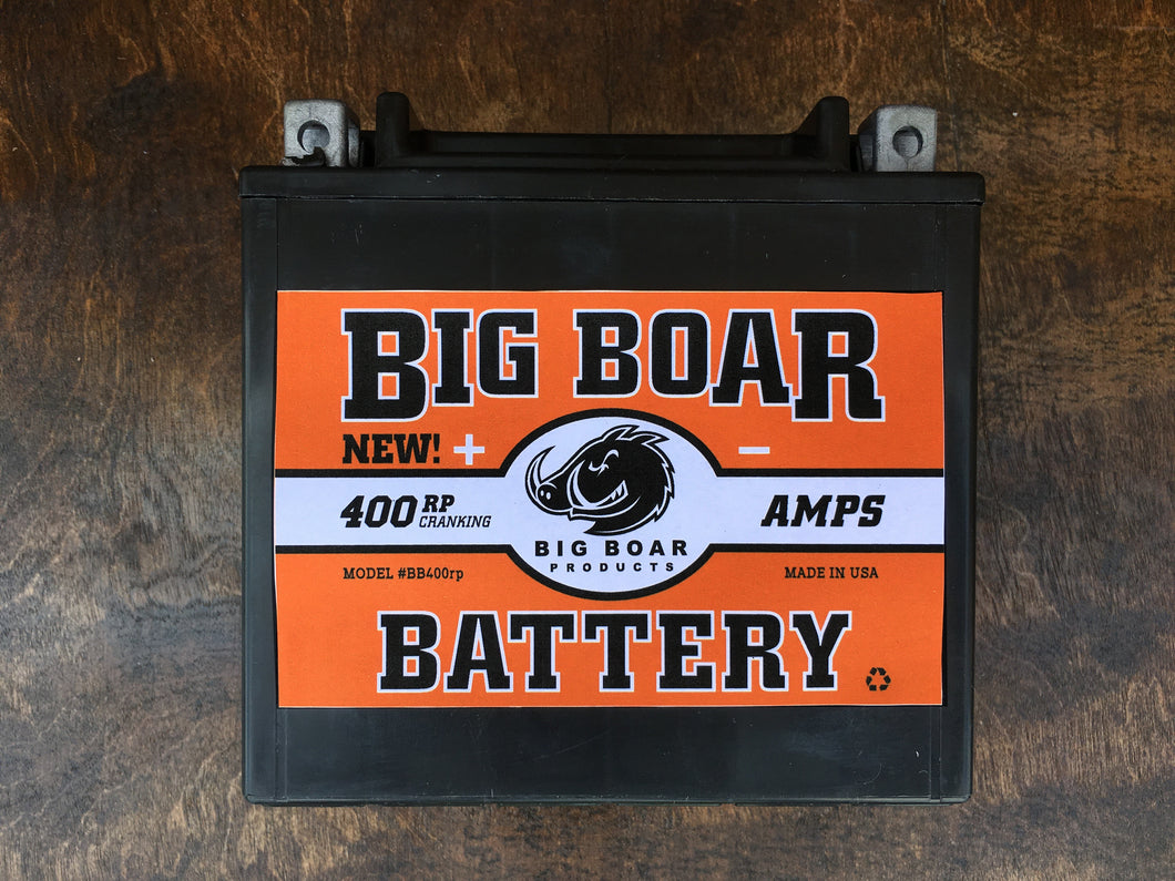 Big Boar Battery, Reverse Polarity, 400 Cranking Amps, 6