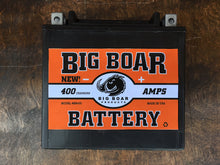 "Big Boar Battery, 400 Cranking Amps, 6""L x 5 5/8""T x 3 7/16""W"