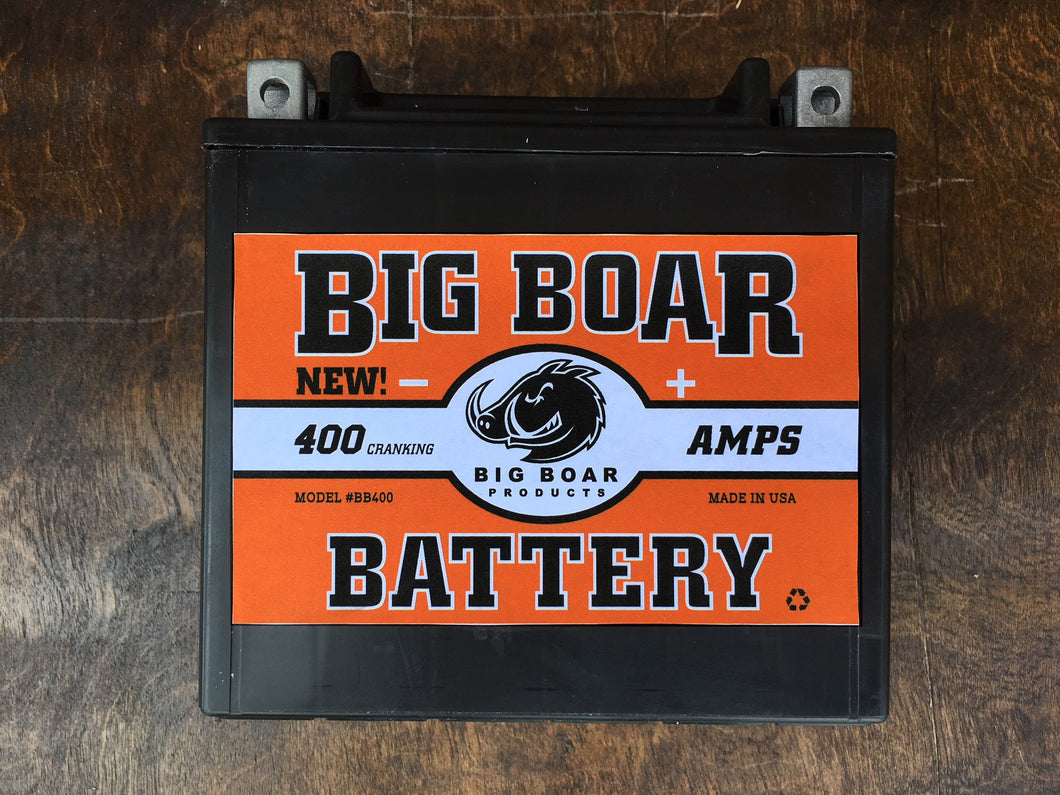 Big Boar Battery, 400 Cranking Amps, 6