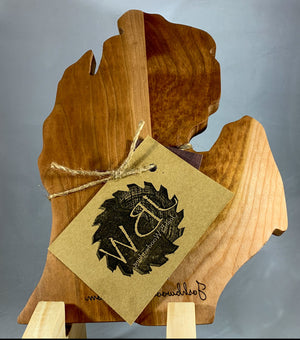 Wooden Michigan Cheese Board