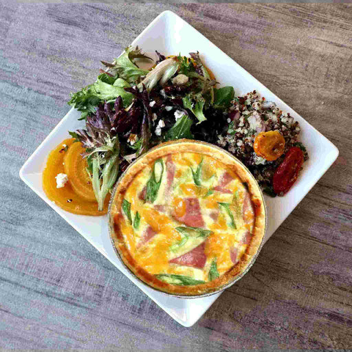Quiche Lorraine w/Salad and Side Dish