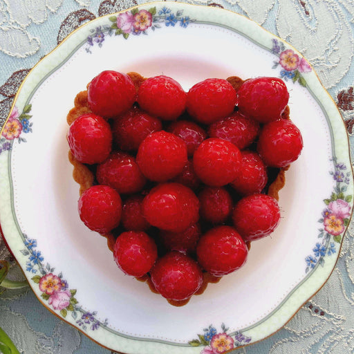 Heart Shaped Raspberry Tart (V)