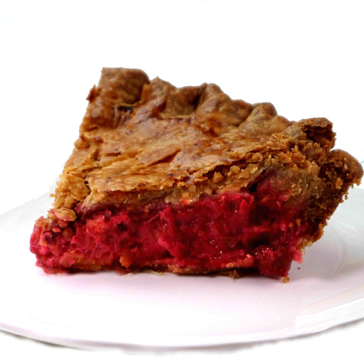 D04. Raspberry Rhubarb Sliced Pie (V)
