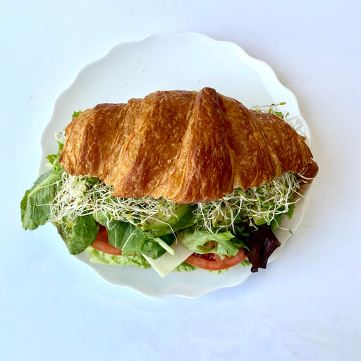 BL21a. Deluxe Veggie & Cheese Croissant Sandwich (V)