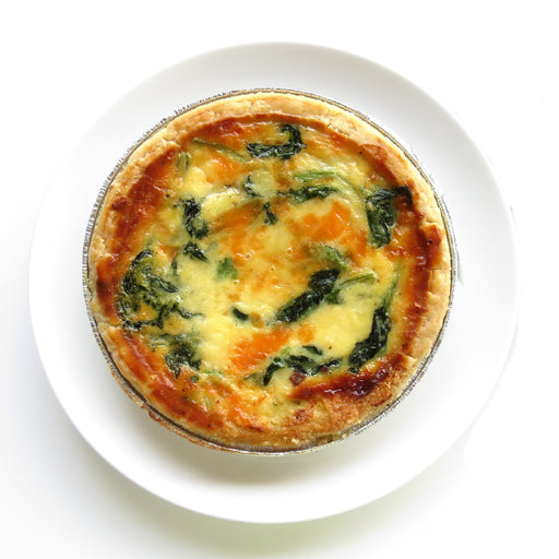 B09. Spinach Quiche 5in (V)