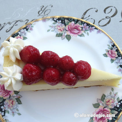 D26. Raspberry on Cheesecake Slice (V)