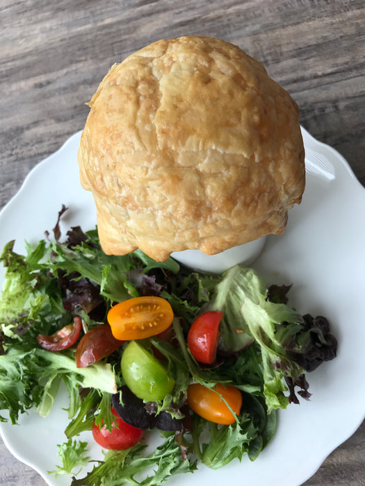 Clam Chowder Pot Pie w/Salad and Side Dish
