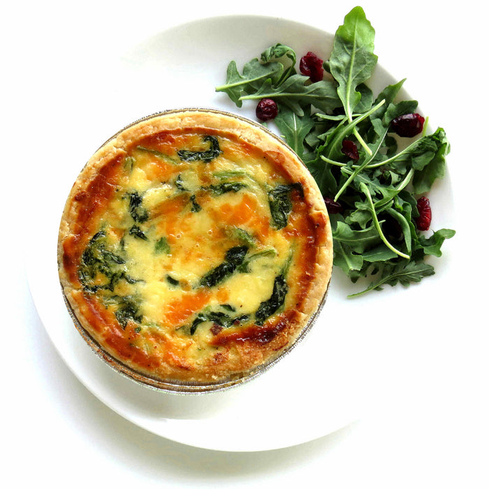 BL16. Spinach Quiche with Salad (V)
