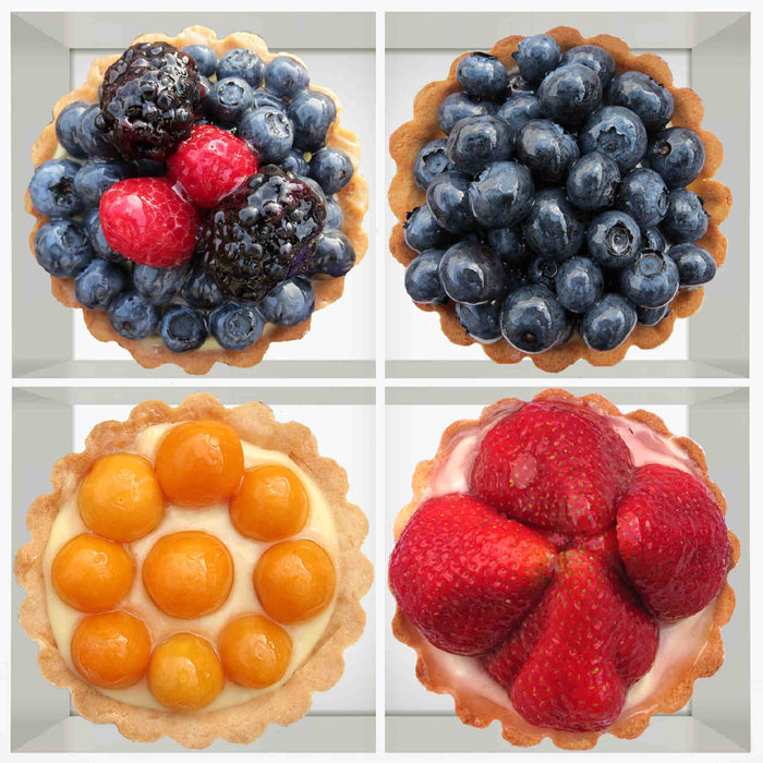 M301B  4 Berry Vanilla Cream Tarts Medley B (Veggie) (Gluten Friendly)