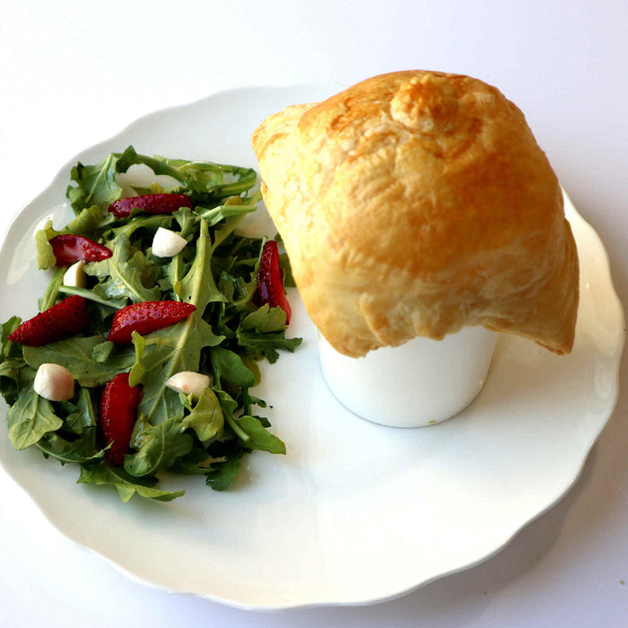 French Onion Pot Pie w/Salad and Side Dish