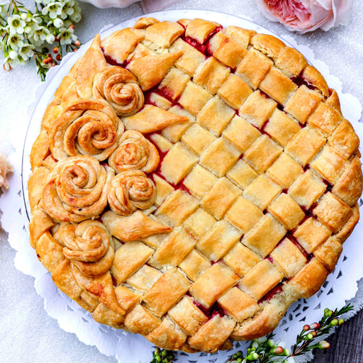 Valentine Cherry Lattice Pie (V)