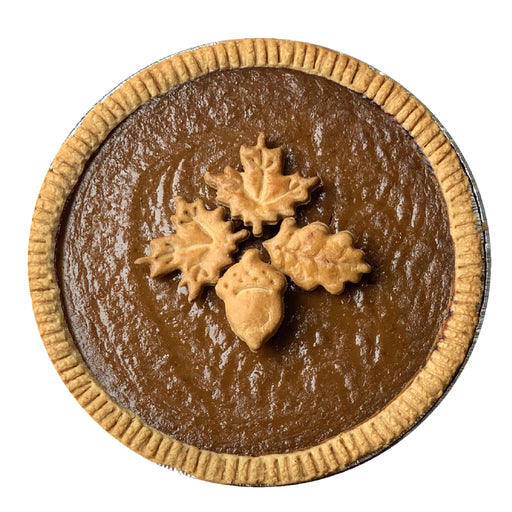 FW02VF Vegan Gluten-Free Pumpkin Pie Decorated (VG)(GF)