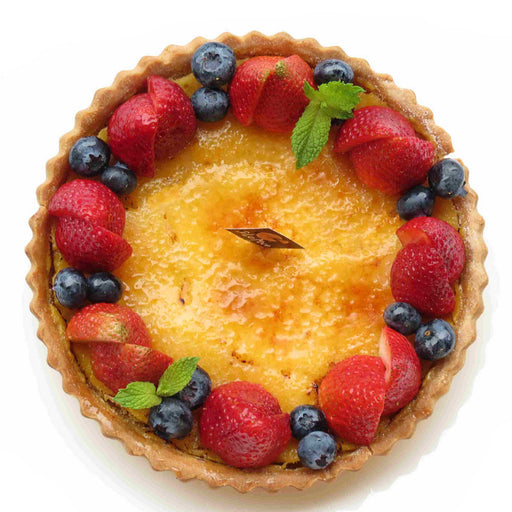 W23. Cream Brulee Whole Tart (V) (GF)