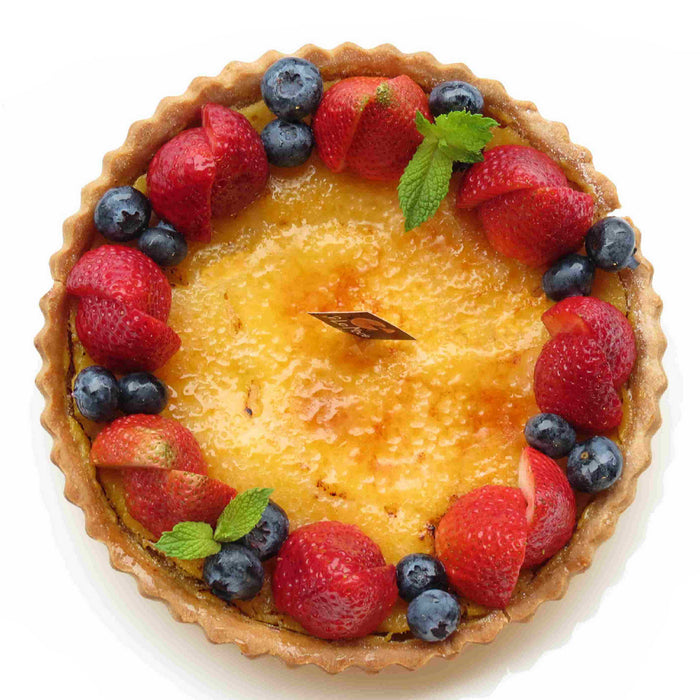 W23. Cream Brulee Whole Tart (V)