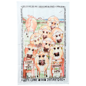 Jersey Gals Tea Towel