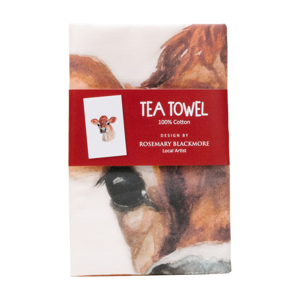 Jersey Cow Tea Towel