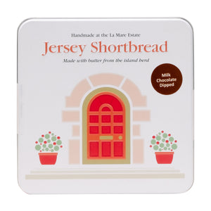 Jersey Shortbread Biscuits dipped in Milk Chocolate