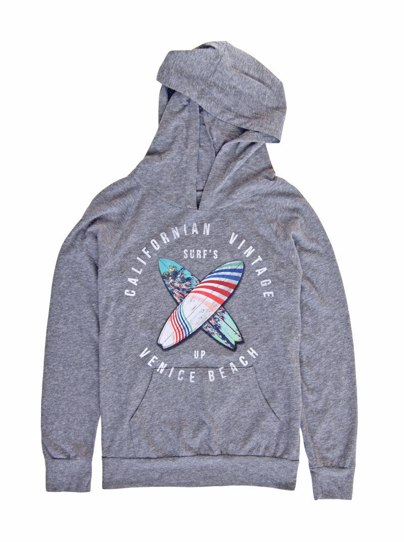 Surfs Up Hooded LS Tee