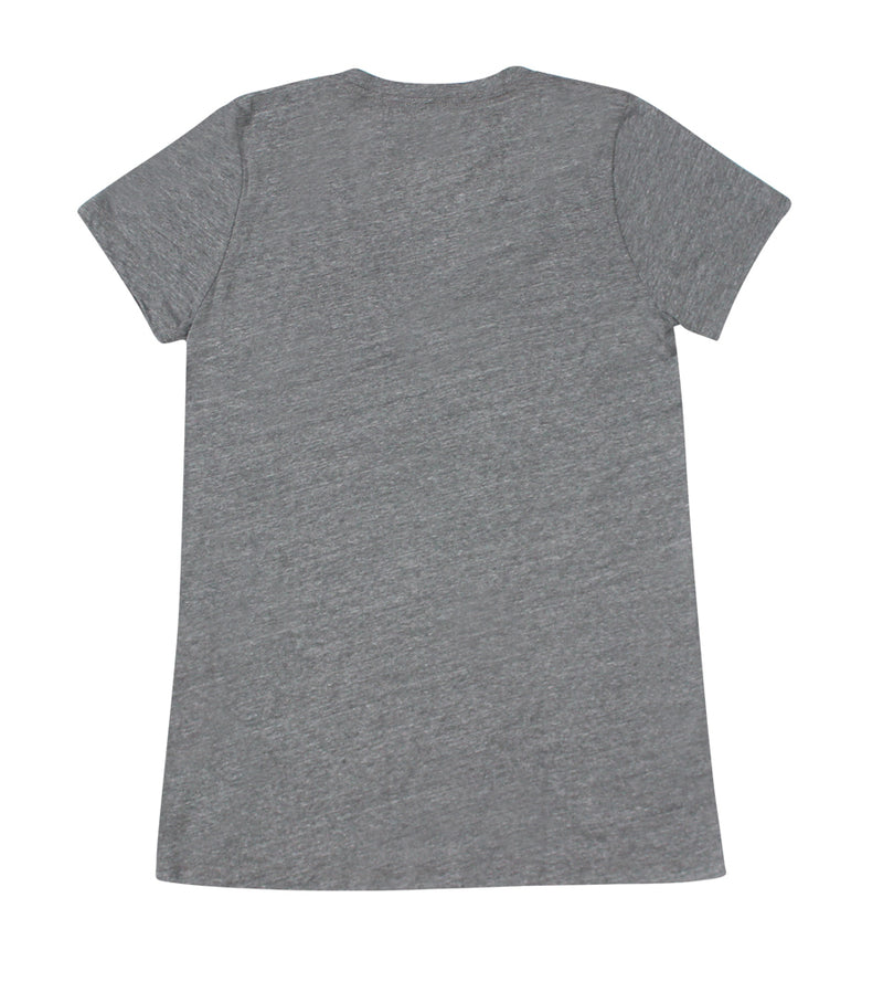 Heather Grey V-Neck Pins Tee