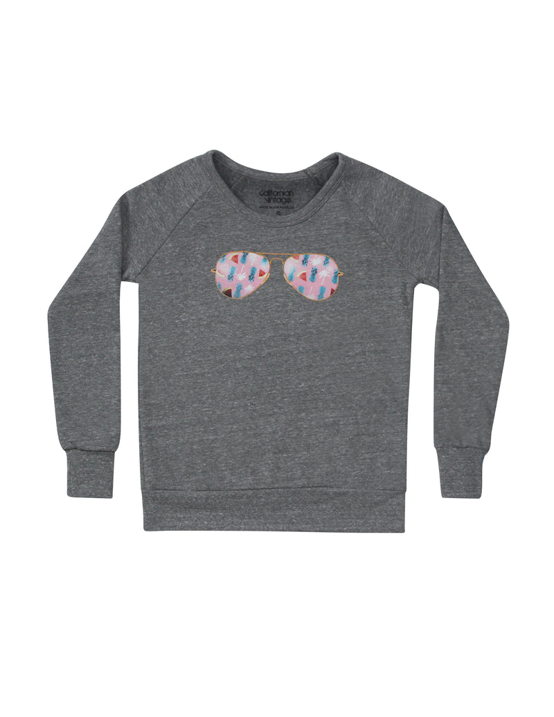 Lollipop Deep Crew Neck Sweatshirt