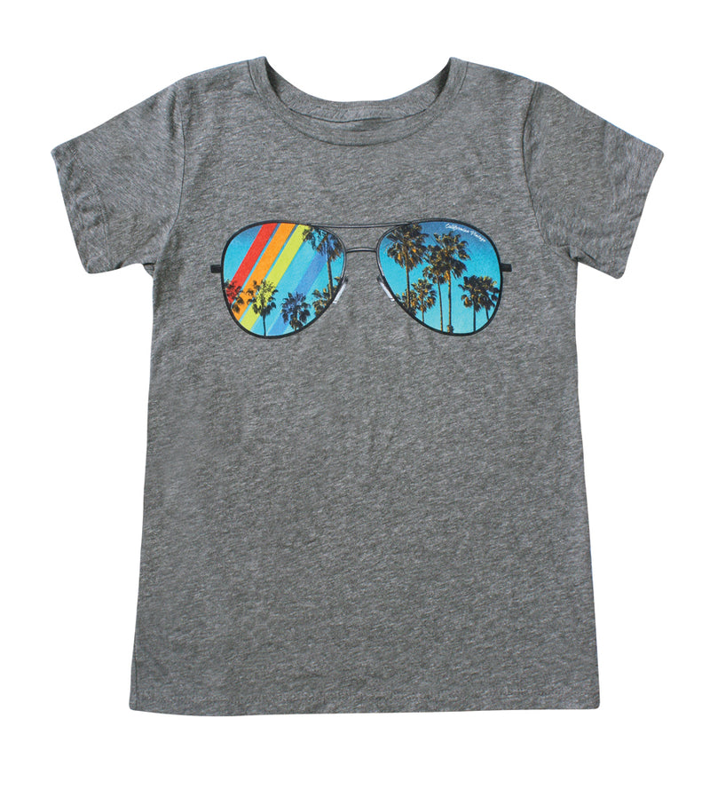 Heather Grey Lollipop V-Neck Tee