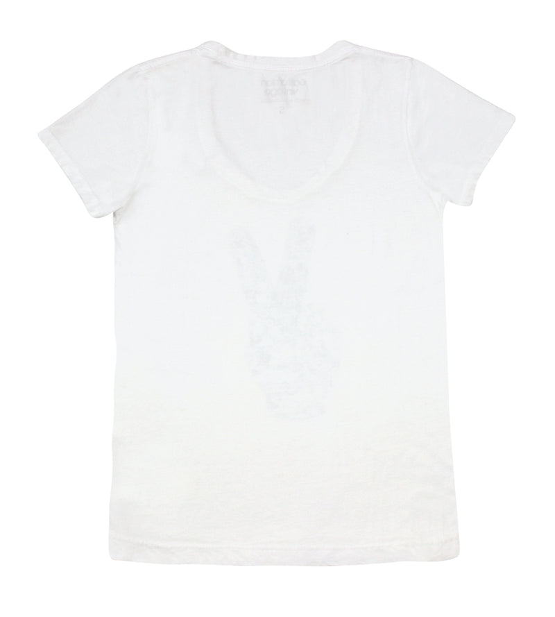 White Pins V-Neck Tee