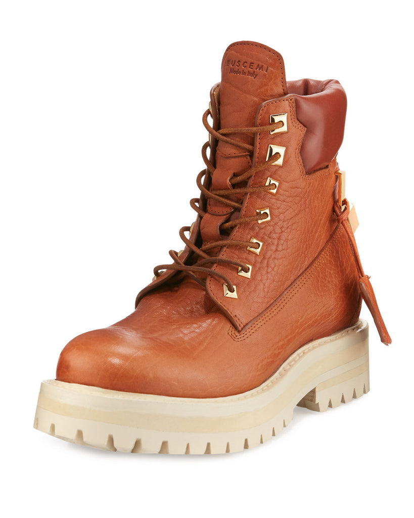 Buscemi Lace Up Leather Site Boots Sz 45/12