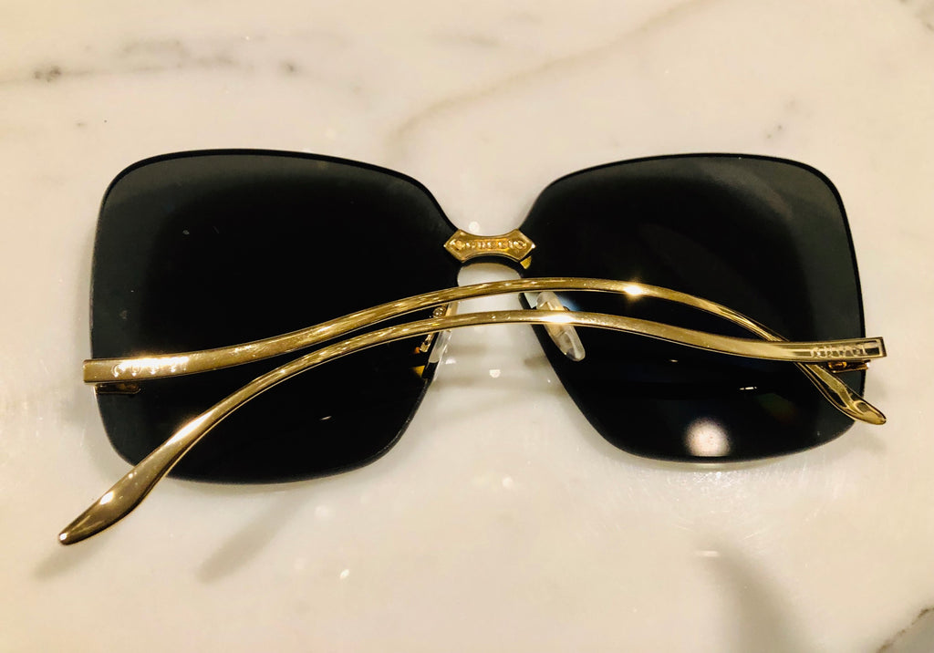 Gucci GG0352S Grey/Gold Sunglasses