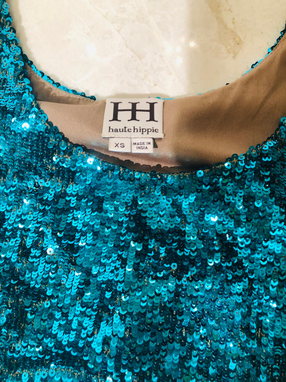 Haute Hippie Sequin Ombré Top & Shorts Set Sz XS