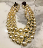 Gucci Faux Pearl Strawberry Tiered Necklace