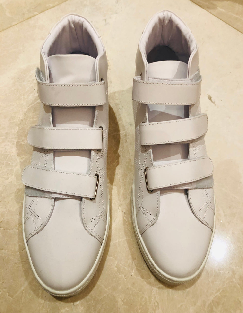 Burberry Strappy Preforated Sturrock Mid Sneakers Sz 46
